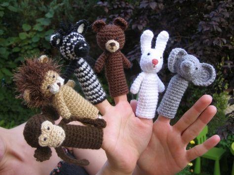 Ujjbábok, Baba-mama-gyerek, Báb, Készségfejlesztő játék, Horgolt ujjbábok gyermekeknek és játékos kedvű szüleiknek. :)  Megvásárolhatóak egyenként is (írjáto..., Meska