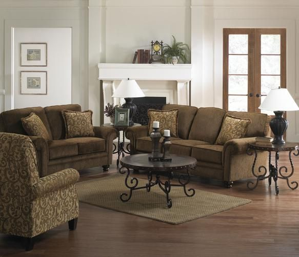 Fabric Reclining Sofa And Loveseat Set