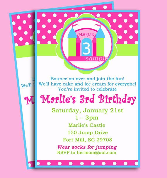 55 best images about Bounce House Trampoline Party Ideas on – Bounce House Birthday Invitations