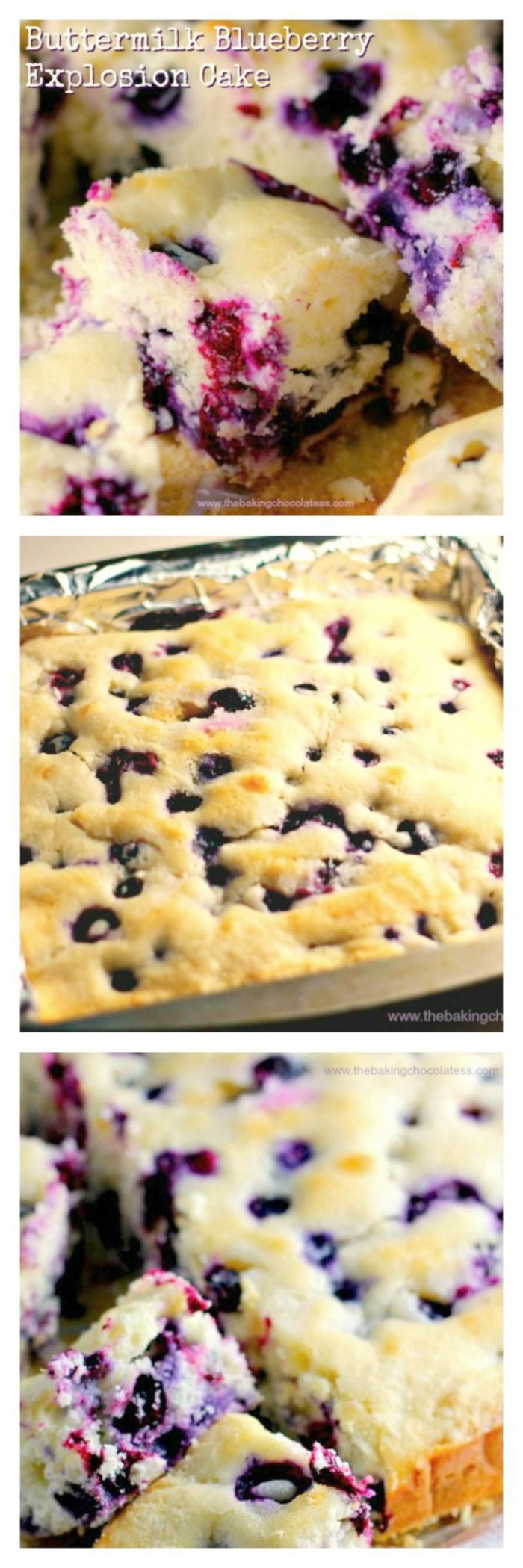 Buttermilk Blueberry Explosion Cake! via /https/://www.pinterest.com/BaknChocolaTess/