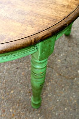 Perfect Distressed Antibes With Clear/dark Wax And A Refinished Table Top
