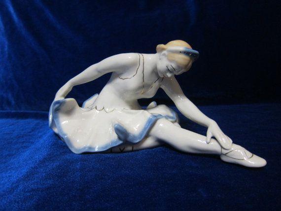 Vintage USSR Porcelain ballet girl figurine polonne ussr