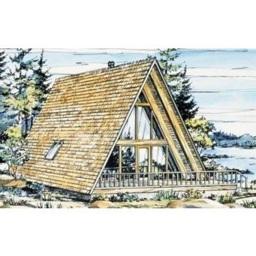 AmazingPlans.com House Plan #H-15-1 - Cabin, Vacation