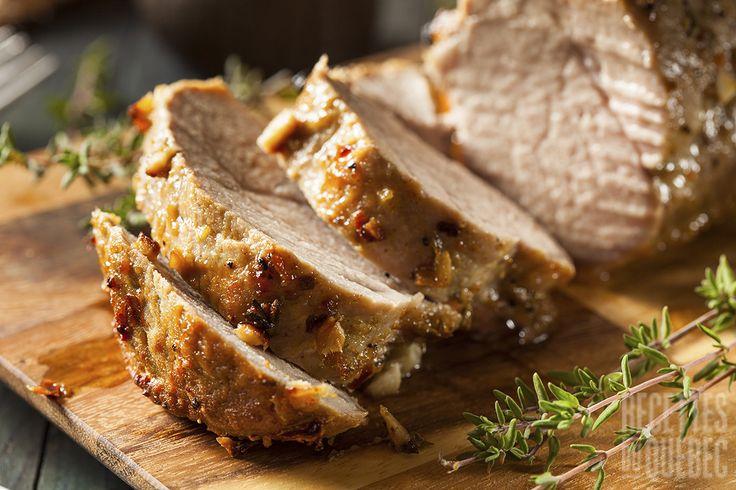 Longe de porc sur BBQ sauce sucrée