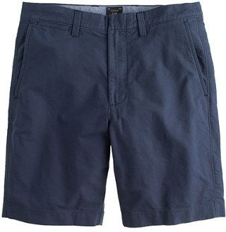 $64, Navy Shorts: J.Crew 105 Club Short In Oxford Cloth. Sold by J.Crew. Click for more info: https://lookastic.com/men/shop_items/27298/redirect