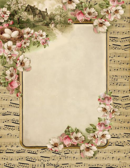 vintage printables...great to decoupage with