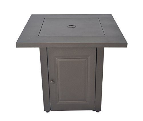 """Legacy Heating Cdf-WMGB28 28"""" Propane Fire Table, Hammered Black  Item size: 28in x28in x24in  Bronze powder coating  Easy access door for propane tank exchange,  20Lb standard gas tank for usage. (Not included)  ETL approved"""
