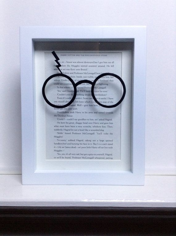 The Boy Who Lived - Harry Potter Framed papercutting. Harry Potter art. Book lovers gift. from PaverPaper on Etsy