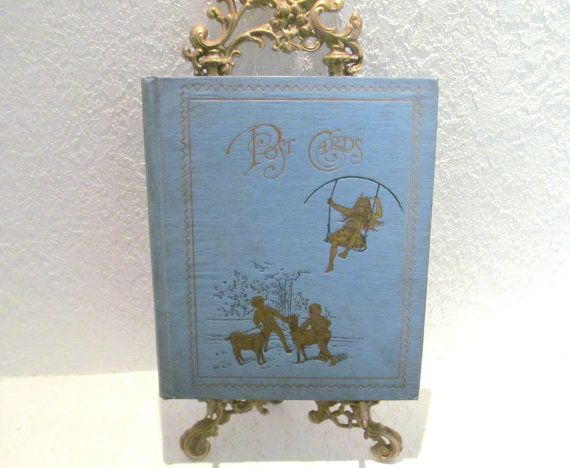 Antique Victorian Postcard Album Gold Gilded by DaisyLaceVintage