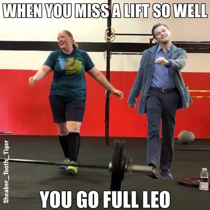 #StruttingLeo! This was just too perfect to pass up turning into a #CrossFitMeme!!! 😂 I finally got the 115# snatch I've been on the brink of hitting for a few months (swipe to watch, not my prettiest lift ever). Couldn't manage it for a double, but this pose happened! 😝🏋🏼 #Meme #LiftingFace #CrossFit #BuiltByBloodline #CrossFitHumor #DontTakeYourselfTooSeriously