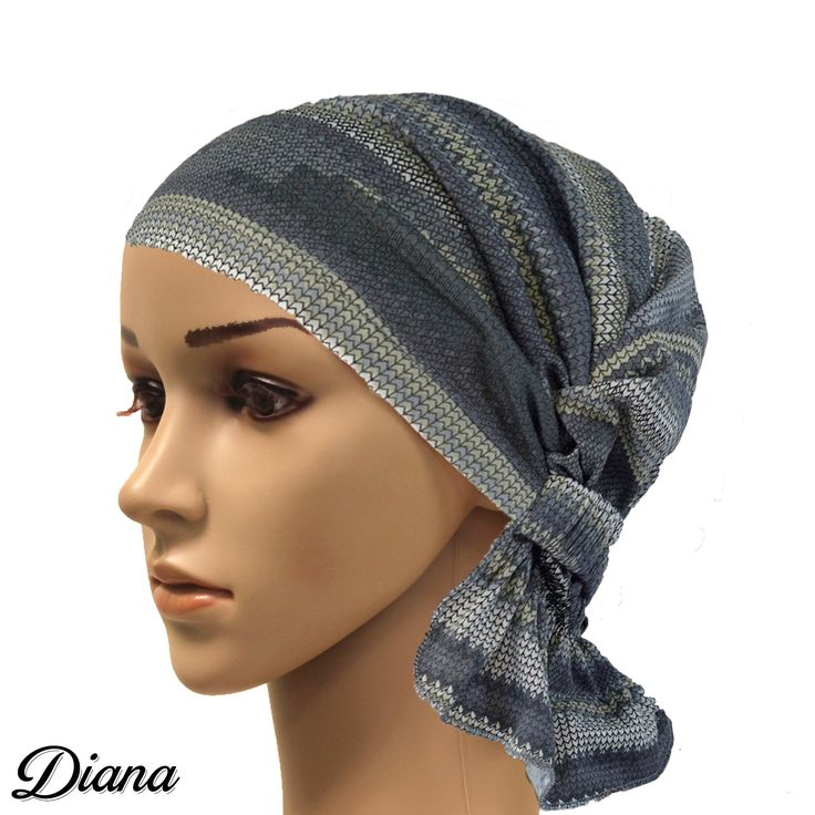 The Diana Chemo Beanie ($24.99) is a grey/sand aztec print beanie. Designed by breast cancer survivors, Chemo Beanies are a practical and stylish option to wigs and hats for women who experience hair loss during chemotherapy.  #chemobeanies #chemoheadwear #dianachemobeanie #chemofashion #chemocare #breastcancer #aztecprint