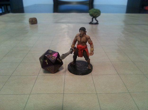 Half Orc Bandit Captain by mz4250