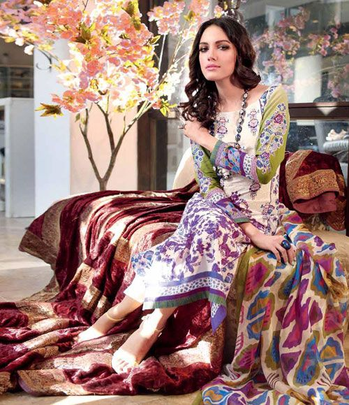 Gul Ahmed Embroidered Chiffon Collection Vol-1 C-183