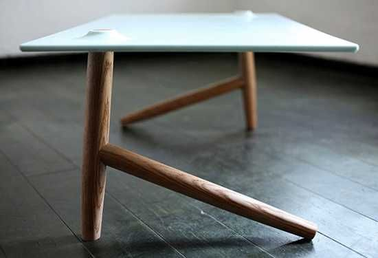 unique table legs made of wood
