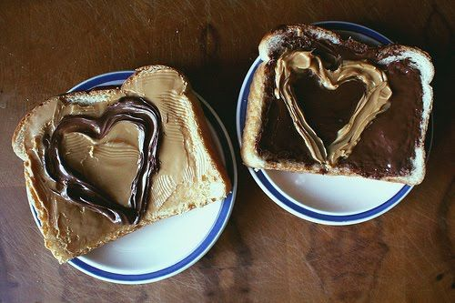 Peanut Butter and Jelly double love. #hearts