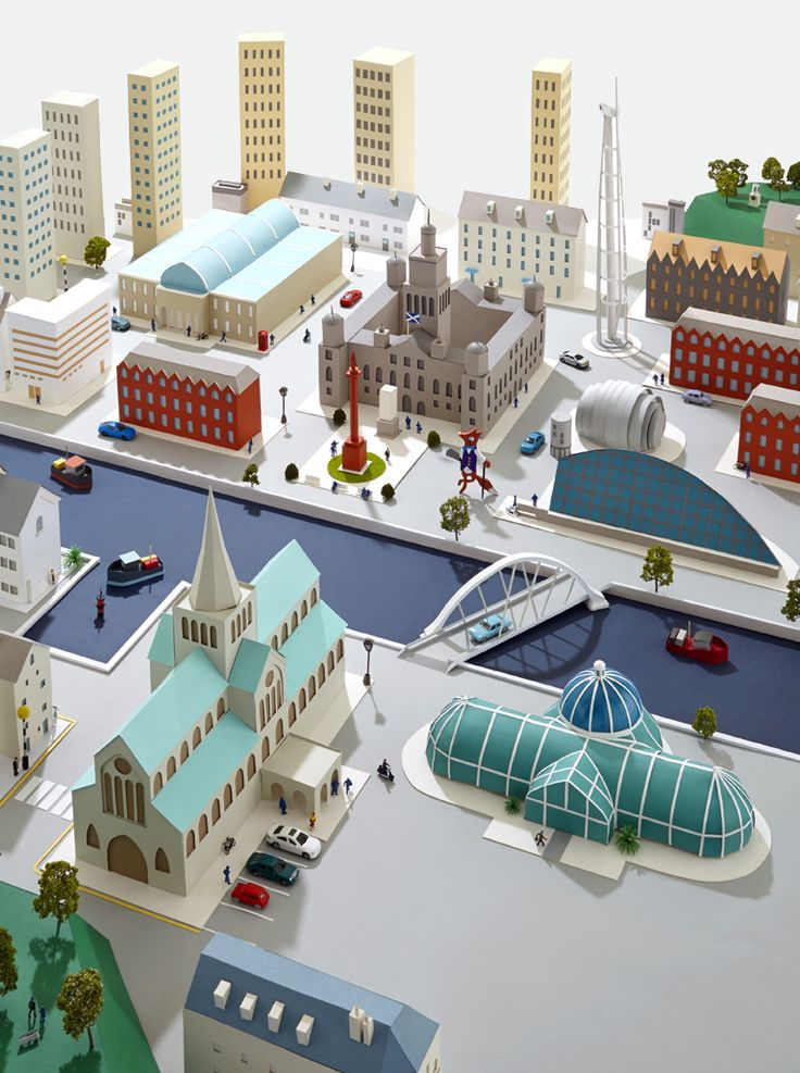Hattie Newman -  Paper city inspired by Glasgow