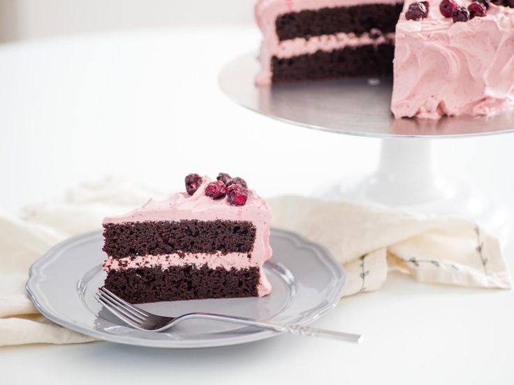 If you love chocolate-covered cherries, this festive layer cake is just for you. With tart cherry juice in the batter and freeze-dried cherries in the whipped cream frosting, it's a bright and fruity twist on an otherwise classic chocolate cake. The flavor of the cake itself depends on rich, full-flavored cocoa powder, whether natural or Dutch-process.