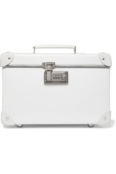 """Globe-Trotter - Pearl 13"""" Leather-trimmed Fiberboard Vanity Case - White - one size"""