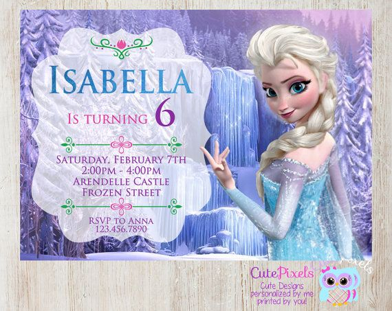 Frozen Invitation, Disney Frozen, Elsa Invitation, Frozen Invitation, Frozen Birthday, Frozen Party, Queen Elsa invitation, Digital File