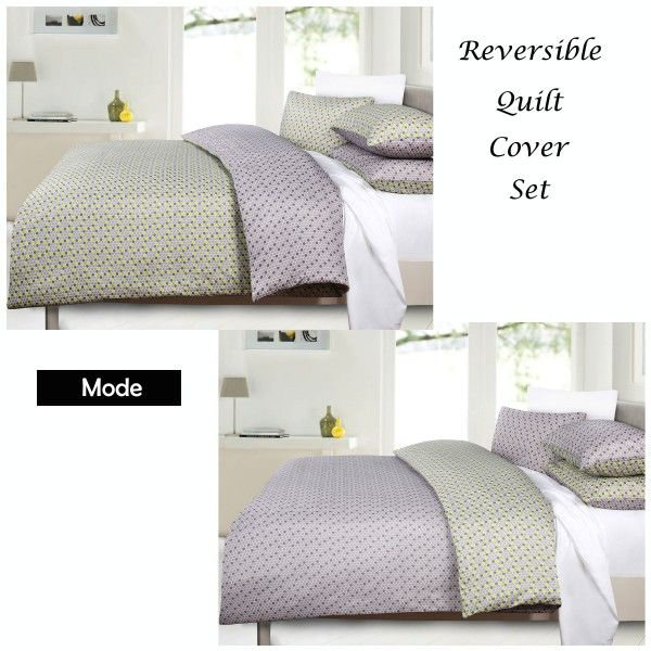 This lovely set with reversible feature made from soft feel microfibre fabric in 180 thread count.