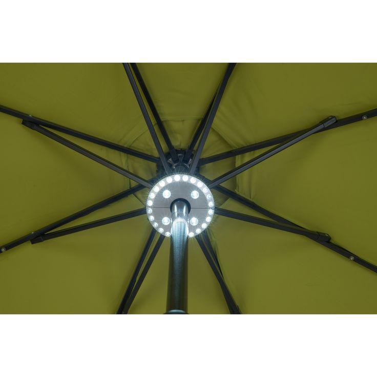 28 LED Patio Umbrella Light - 3 Level Dimming by Trademark Innovations, Silver, Size 6 ft (Plastic) #UMBLIGHT-LED-ADJ