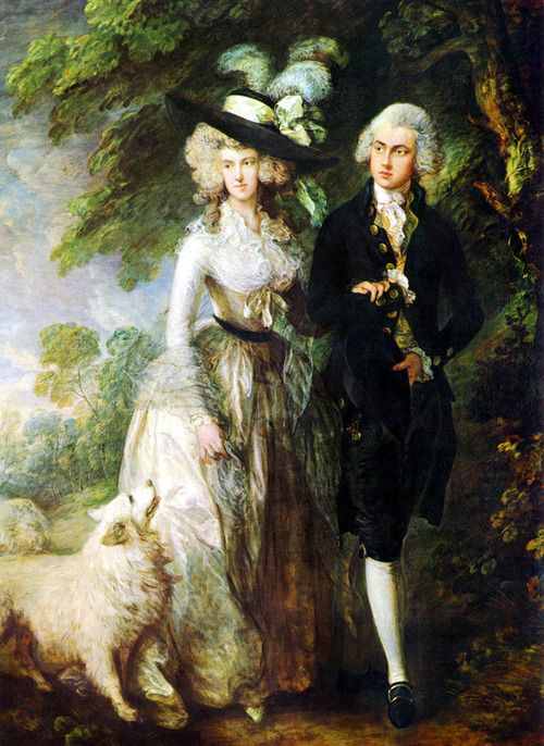 Thomas Gainsborough, Mr et Mrs William Hallett (The morning walk)