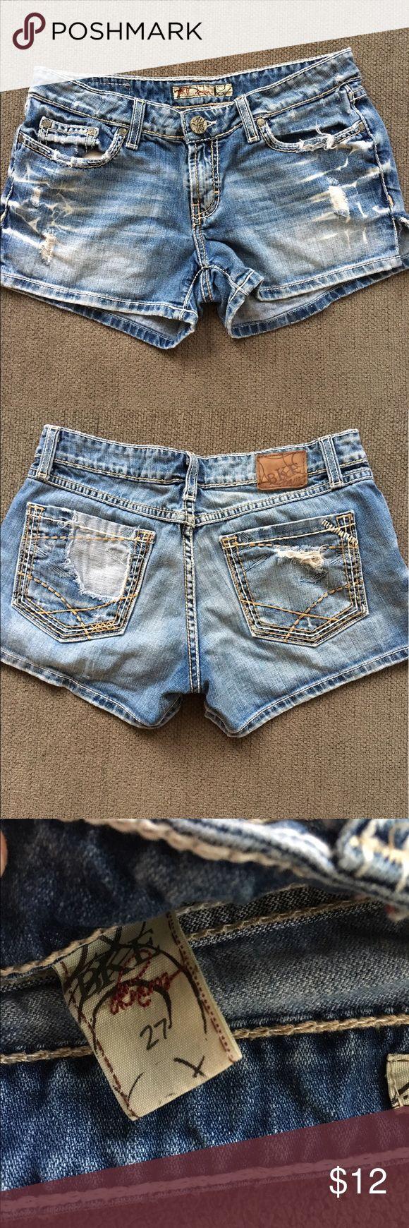 Womens BKE denim shorts Womens BKE Sabrina Denim Shorts• size 27 short• super cute medium fade wash BKE Shorts Jean Shorts