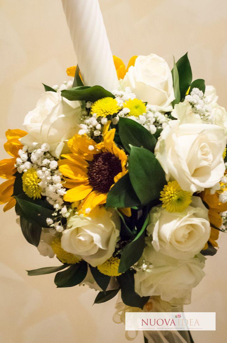 Lumânare de căsătorie cu floarea soarelui | Nuova Idea