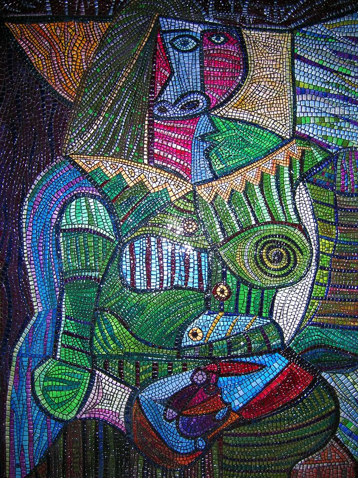 86 x 101cm.Mosaico. Picasso. Dora Markovitch (Maar)