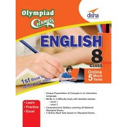 Get online up to 55% discount on the English olympiad books for 8 class with 5 Mock Tests 2nd Edition By Disha Publication.