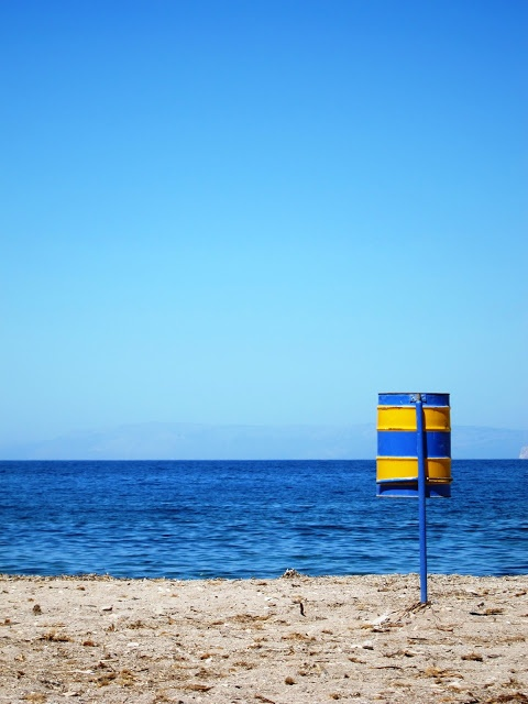 A remote beach in Patmos, Greece..