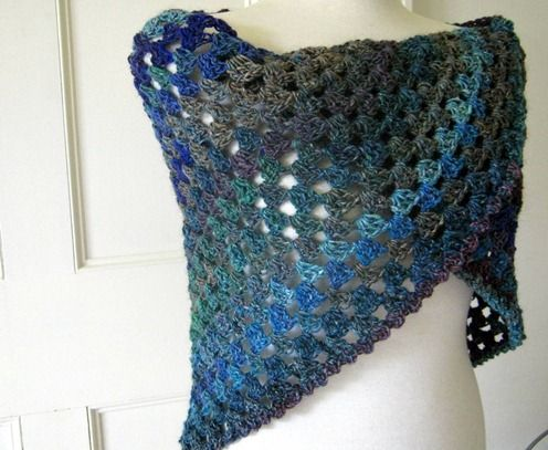 Easy Crochet Patterns For Prayer Shawls : Triangle granny shawl, easy beginner prayer shawl? USE ...