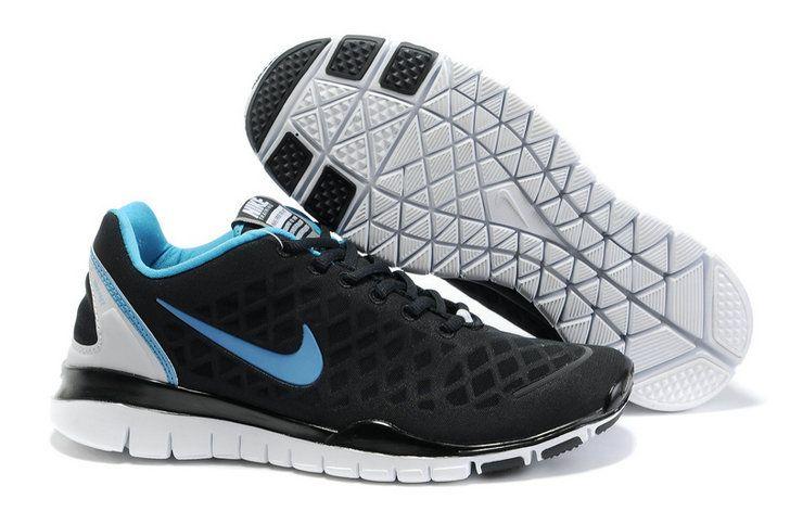 Nike Free Run Tr Fit Black Blue White Men's Shoes ci3cuweT
