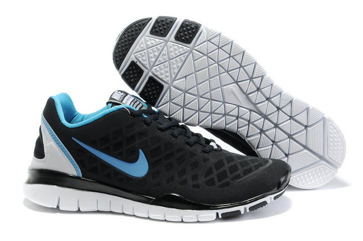 Nike Free Run Tr Fit Black Blue White Men's Shoes ci3cuweT