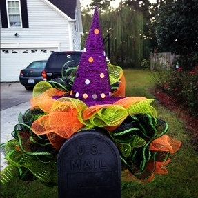 Hey, I found this really awesome Etsy listing at http://www.etsy.com/listing/165314188/witch-hat-poly-deco-mesh-indoor-outdoor