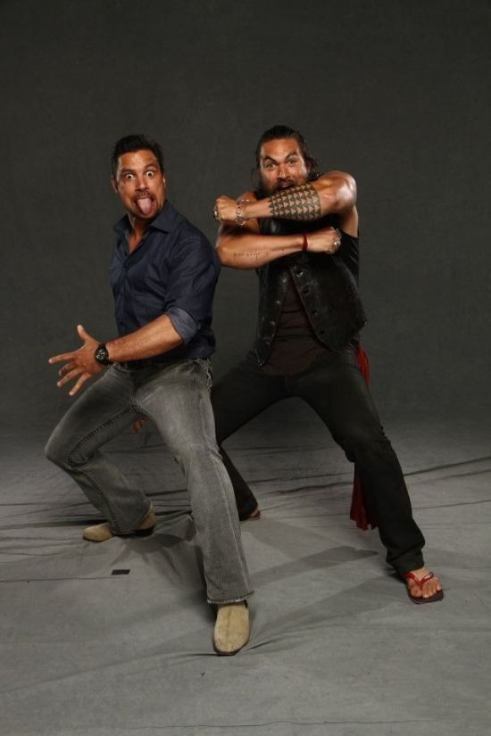 Jason Momoa and Manu Bennett two of my favorite actors and both are Polynesian