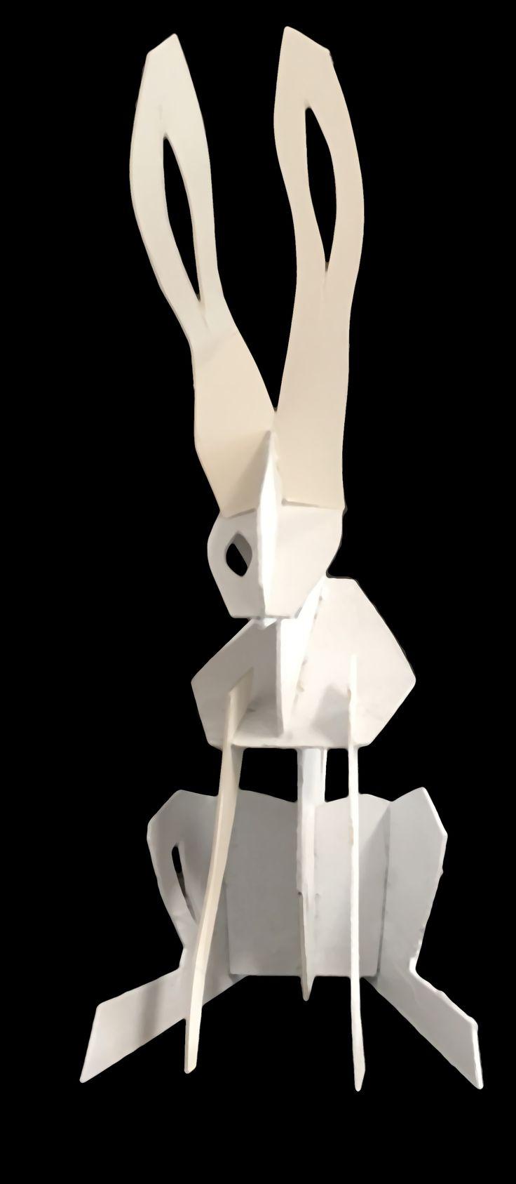 John Nelson Cardboard/Paper Rabbit