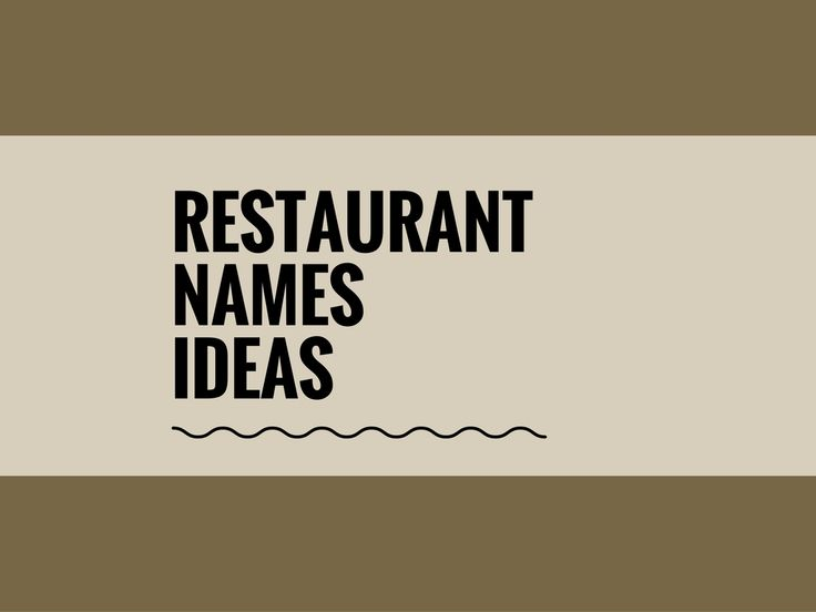 A Creative name is the most important thing of marketing. Check here creative, best Restaurant Business names ideas for your inspiration.