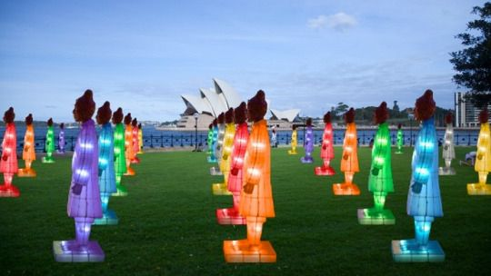 Terracotta Warrior Lantern Sculptures Glow in Sydney for Chinese New Year.