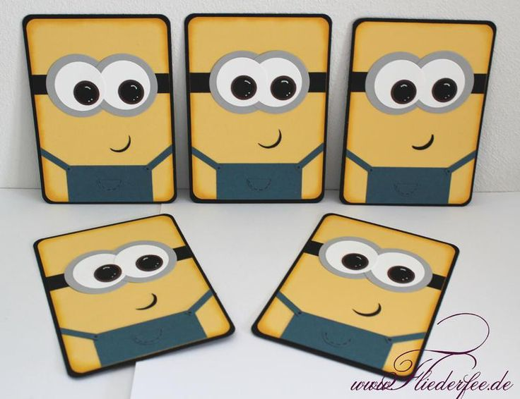 Fliederfee: Stampinu0027 Up! Punch Art Minions Einladungskarten,  Kindergeburtstag