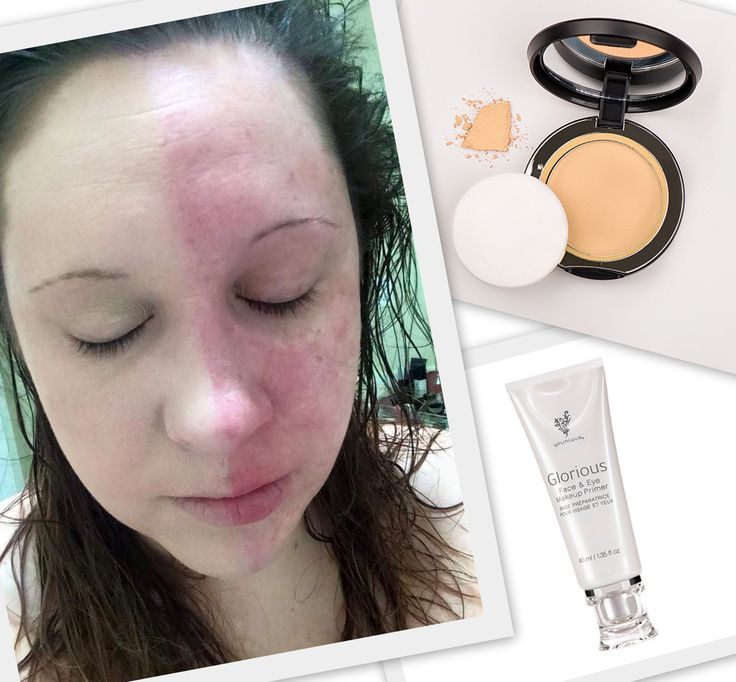 she is only wearing a primer and pressed powder! ahhh-mazing!