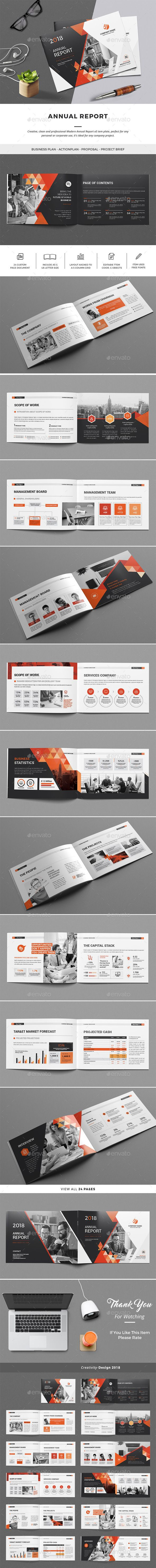 Annual Report — InDesign INDD #identity #professional • Download ➝ https://graphicriver.net/item/annual-report/21400553?ref=pxcr