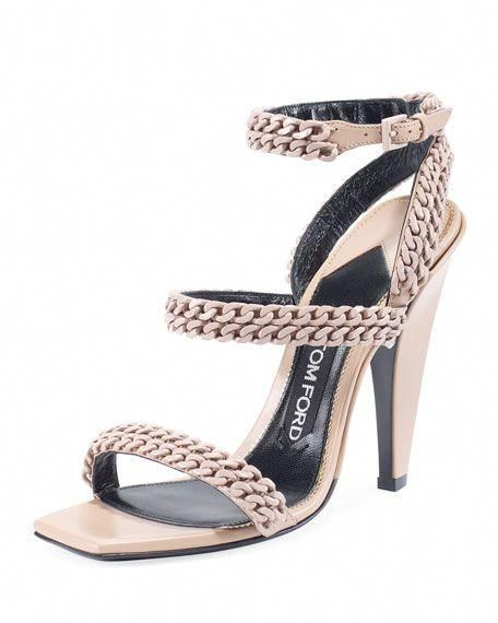0a425784df TOM FORD Chain Strappy 105Mm Sandal, Beige. #tomford #shoes # #SergioRossi