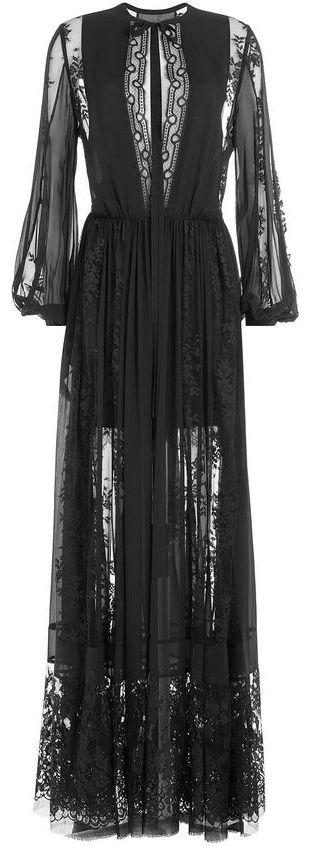 black lace gown <3