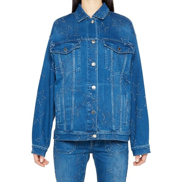Jacket (2.865 BRL) ❤ liked on Polyvore featuring outerwear, jackets, light blue, light blue denim jacket, blue cotton jacket, light blue jean jacket, denim jacket and light blue jacket