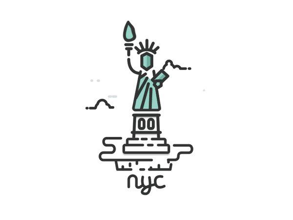 Little Animated Illustrations of USA | Designer: Kirk Wallace -  http://trzown.me | Via: Fubiz™