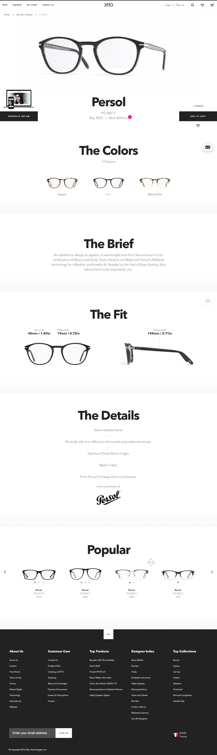 ux ui webdesign product page