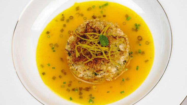 Bolinho de camarão light com molho de tangerina [89cal] - http://www.casalcozinha.com.br/receita/bolinho-de-camarao-light/