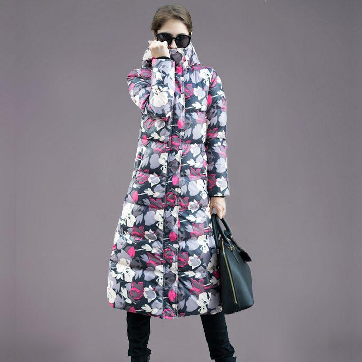 Купить товар2015 зимние военные парка женщины длинный тонкий с капюшоном утка вниз пальто парка утолщение цветочные пуховик бесплатная доставка c1B в категории Пуховики и паркина AliExpress.         Два способа, чтобы выбрать правильный размер        Метод 1:  Пожалуйста, измерьте вашу уменьшают подходящую пал