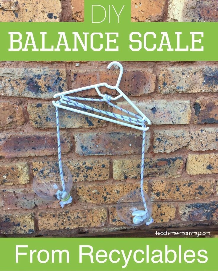 Balance Scale from Recyclables!